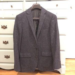 J. Crew Ludlow navy wool and cotton blazer
